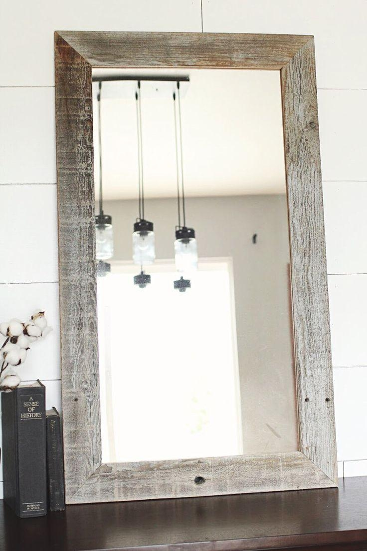 Best 25+ Reclaimed Wood Mirror Ideas Only On Pinterest | Pallet With Regard To Distressed Framed Mirror (View 17 of 20)