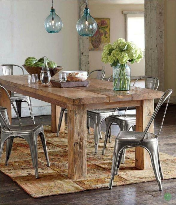 Best 25+ Reclaimed Wood Tables Ideas On Pinterest | Reclaimed Wood With Regard To Dining Tables With Attached Stools (View 14 of 20)