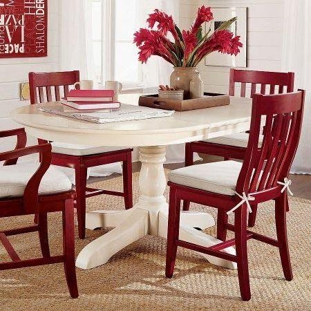 Best 25+ Red Kitchen Tables Ideas Only On Pinterest | Paint Wood Inside Red Dining Tables And Chairs (Image 6 of 20)