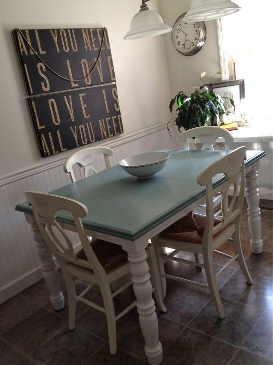 Best 25+ Refinish Kitchen Tables Ideas On Pinterest | Dining Table Pertaining To Ivory Painted Dining Tables (View 11 of 20)