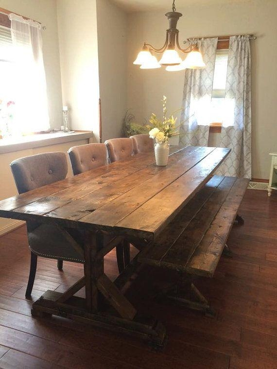 Best 25+ Rustic Farmhouse Table Ideas On Pinterest | Farm Kitchen Pertaining To Barn House Dining Tables (View 20 of 20)