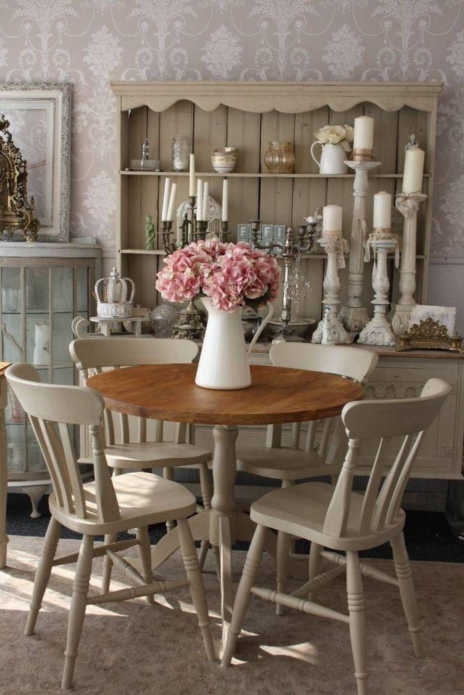 Best 25+ Rustic Round Dining Table Ideas Only On Pinterest | Round Within Shabby Chic Cream Dining Tables And Chairs (Image 9 of 20)