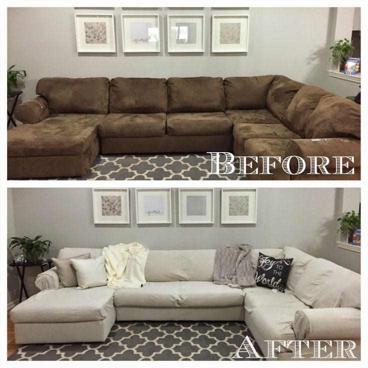 Best 25+ Sectional Couch Cover Ideas On Pinterest | Diy Living Regarding 3 Piece Sofa Slipcovers (View 20 of 20)