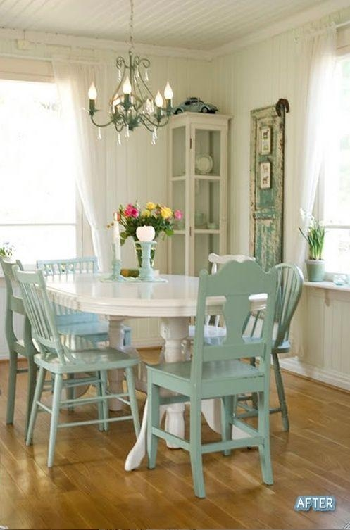 Best 25+ Shabby Chic Dining Room Ideas On Pinterest | Shabby Chic With Regard To Shabby Chic Cream Dining Tables And Chairs (Image 13 of 20)
