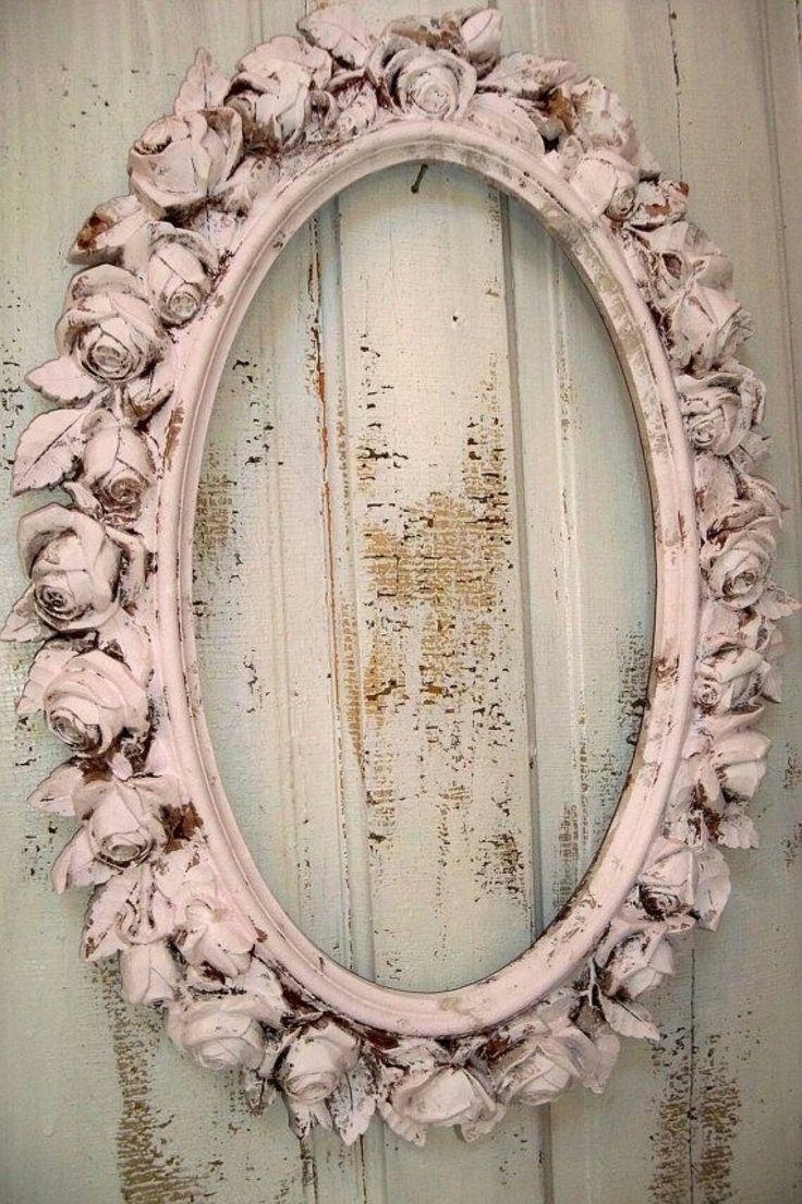 Best 25+ Shabby Chic Frames Ideas On Pinterest | Shabby Chic Pertaining To Cream Shabby Chic Mirror (Image 4 of 20)