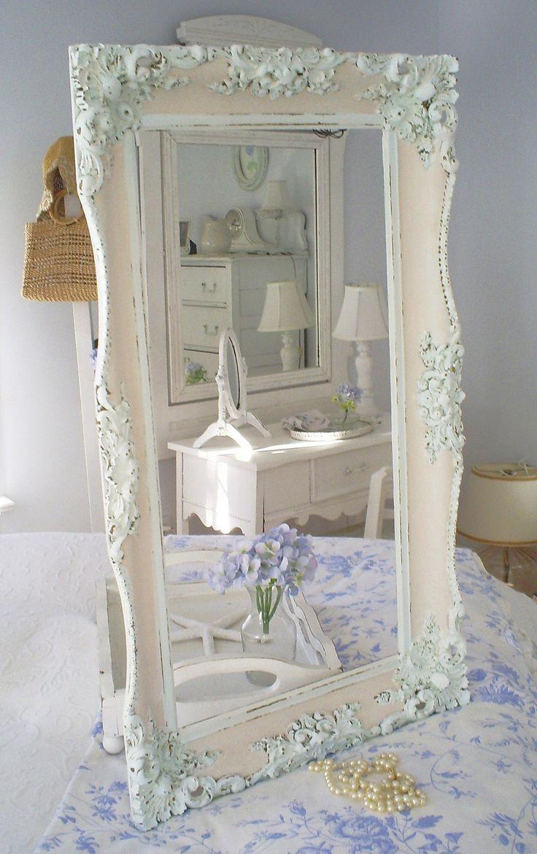 Best 25+ Shabby Chic Mirror Ideas On Pinterest | Shaby Chic Regarding Shabby Chic Mirror White (Image 5 of 20)