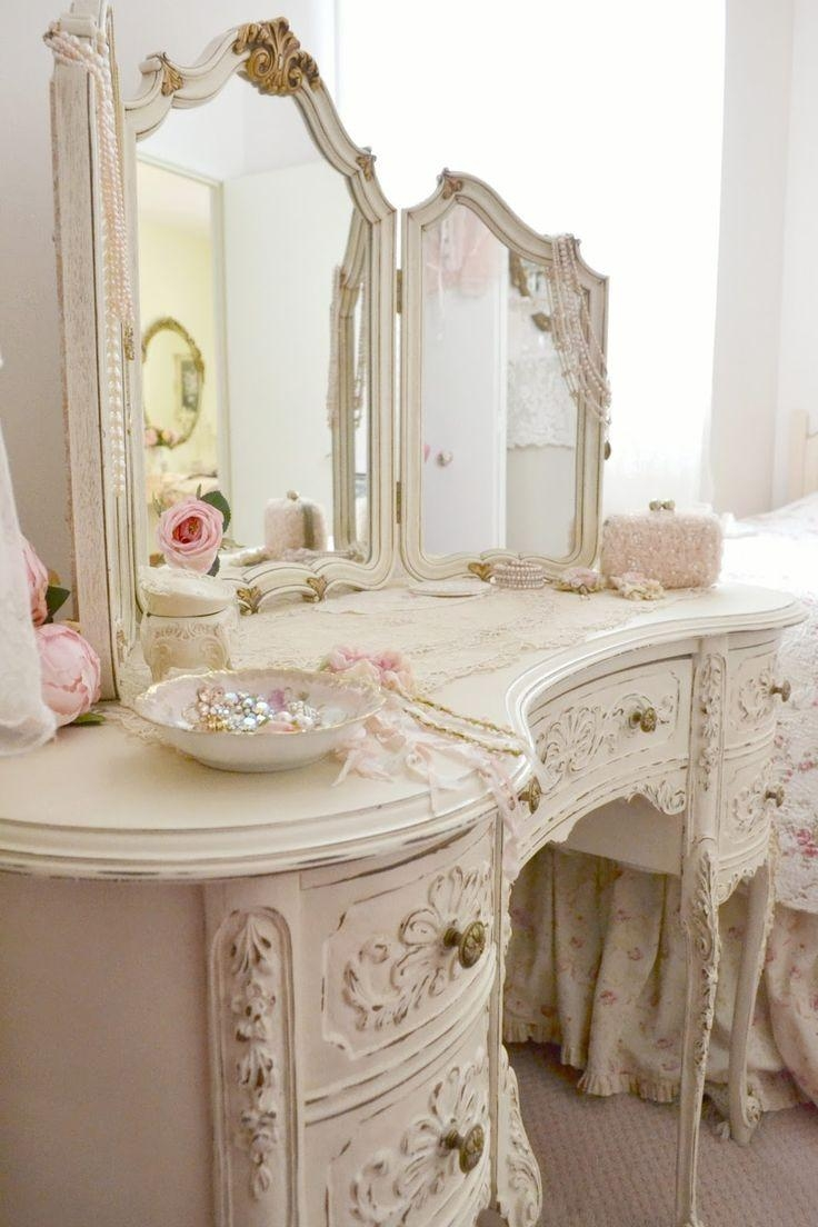 Best 25+ Shabby Chic Vanity Ideas Only On Pinterest | Vintage With Cream Shabby Chic Mirror (Image 8 of 20)