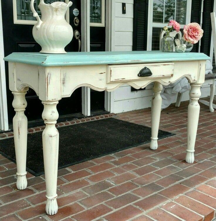 Best 25+ Sofa Table Redo Ideas On Pinterest | Farmhouse Table Inside Blue Sofa Tabless (Image 7 of 20)
