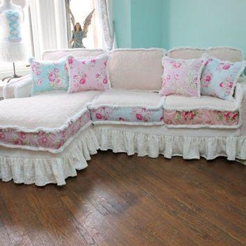 20 photos shabby chic sectional sofas couches sofa ideas. Black Bedroom Furniture Sets. Home Design Ideas