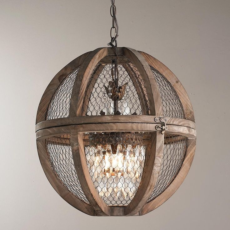 Best 25 Sphere Light Fixture Ideas On Pinterest Christmas For Small Rustic Crystal Chandeliers (Image 2 of 25)