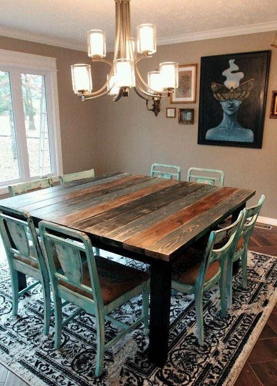 Best 25+ Square Dining Tables Ideas On Pinterest | Custom Dining Throughout Square Dining Tables (Image 8 of 20)