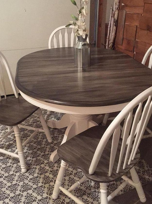 Best 25+ Stained Table Ideas On Pinterest | Refurbished Furniture With Ivory Painted Dining Tables (Image 16 of 20)