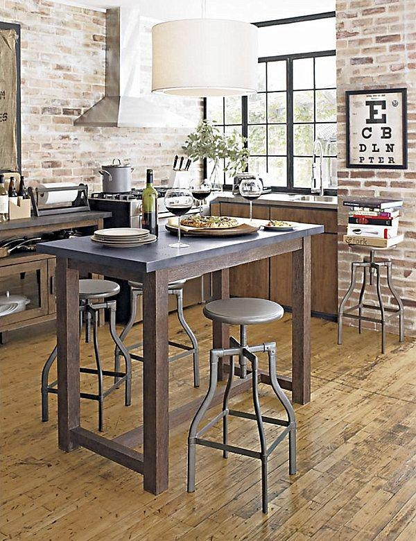 Best 25+ Tall Kitchen Table Ideas Only On Pinterest | Tall Table With Dining Tables With Attached Stools (View 8 of 20)