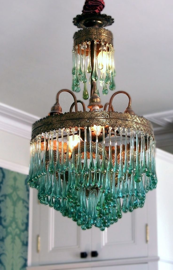 Best 25 Teal Chandeliers Ideas On Pinterest Turquoise Color For Turquoise Bubble Chandeliers (Image 10 of 25)
