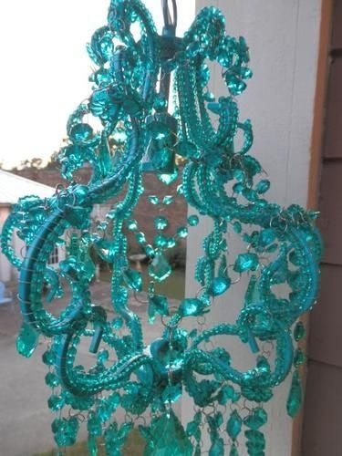 Best 25 Teal Chandeliers Ideas On Pinterest Turquoise Color Inside Turquoise Blue Beaded Chandeliers (Image 14 of 25)