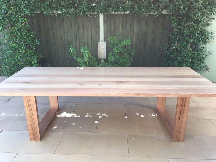Best 25+ Timber Dining Table Ideas On Pinterest | Timber Table Regarding Dining Tables With Large Legs (View 3 of 20)