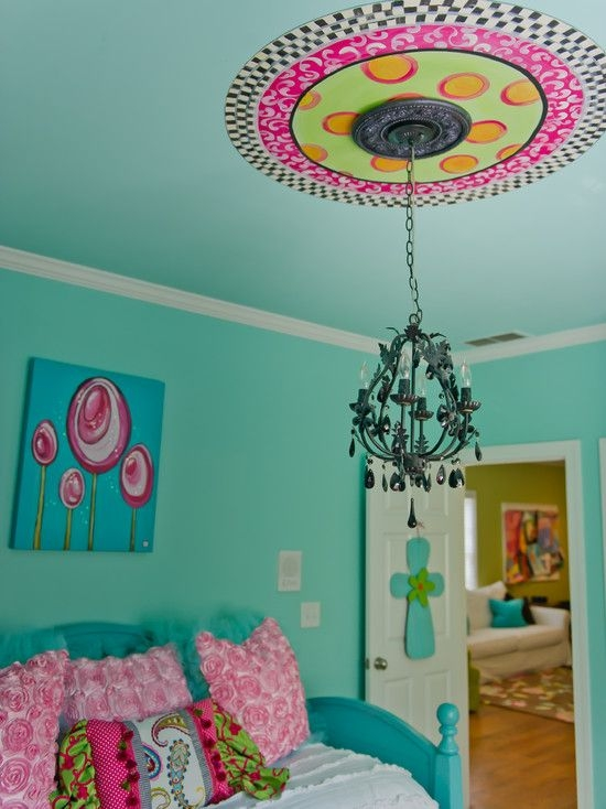 Best 25 Turquoise Girls Bedrooms Ideas On Pinterest Turquoise Inside Turquoise Bedroom Chandeliers (View 5 of 25)