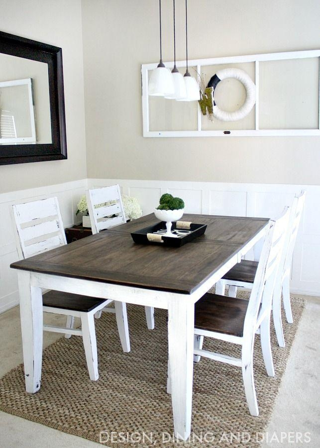 Best 25+ Two Tone Table Ideas Only On Pinterest | Refinished Table Intended For Dining Tables For Two (View 18 of 20)