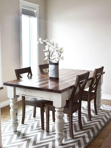 Best 25+ Two Tone Table Ideas Only On Pinterest | Refinished Table Intended For Dining Tables For Two (View 13 of 20)
