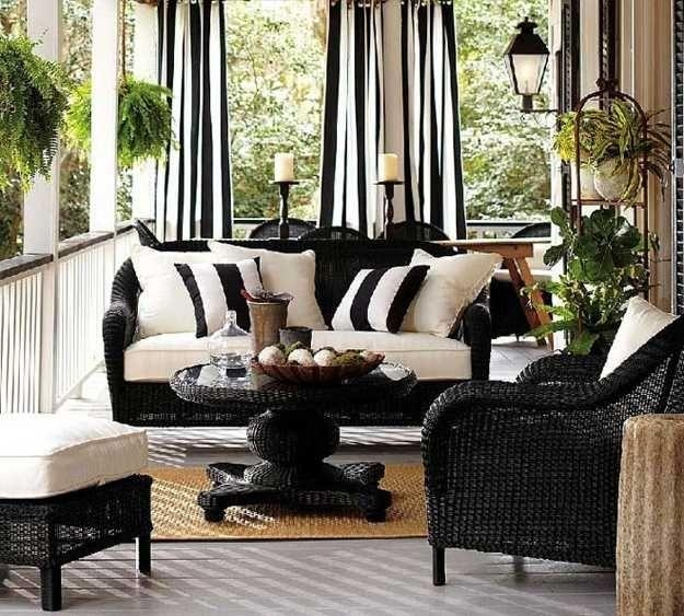 Best 25+ White Patio Furniture Ideas On Pinterest | Outdoor Throughout Black Wicker Sofas (Image 4 of 20)