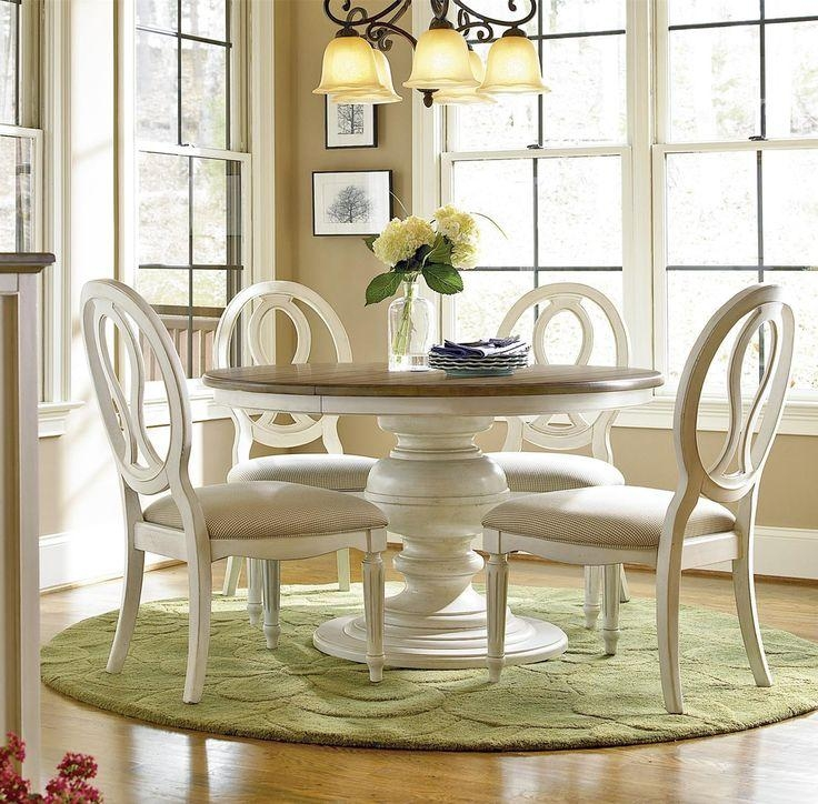 Best 25+ White Round Dining Table Ideas Only On Pinterest | Round With Regard To Round Extending Dining Tables And Chairs (View 2 of 20)