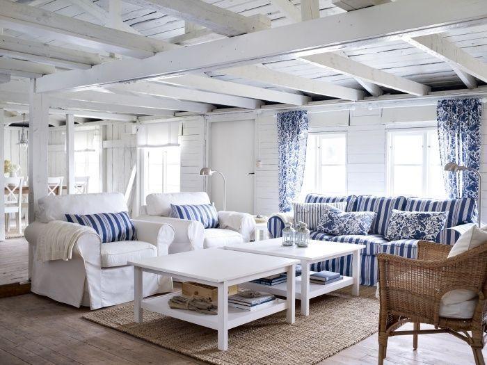 Best 25+ White Sofas Ideas On Pinterest | White Sofa Decor, Blue Throughout Blue And White Striped Sofas (Image 9 of 20)