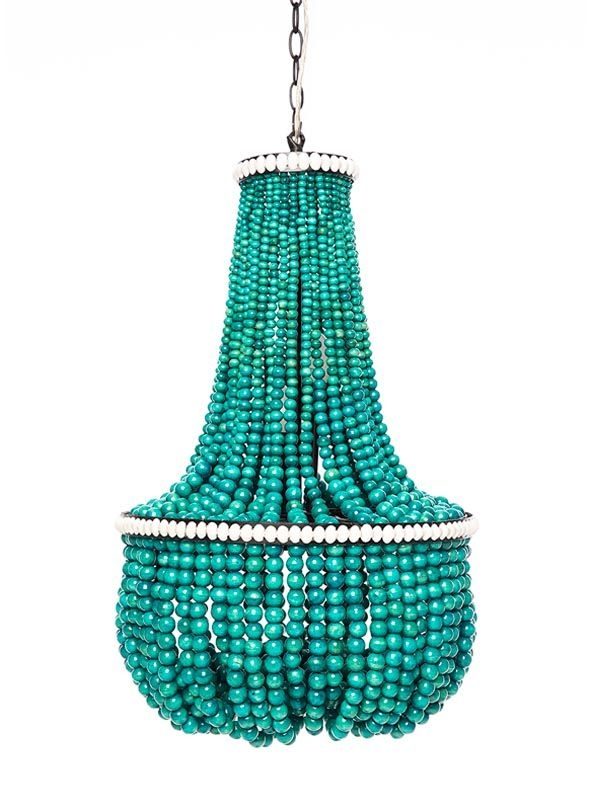 Best 25 Wood Bead Chandelier Ideas On Pinterest Bead Chandelier Regarding Turquoise Beads SixLight Chandeliers (Image 12 of 25)