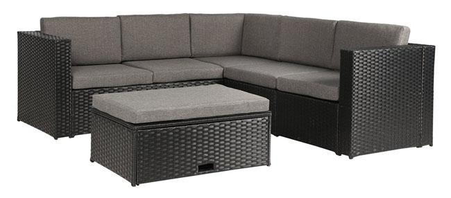 Best Garden Furniture For Medium To Small Patios & Urban Balconies With Black Wicker Sofas (Image 5 of 20)