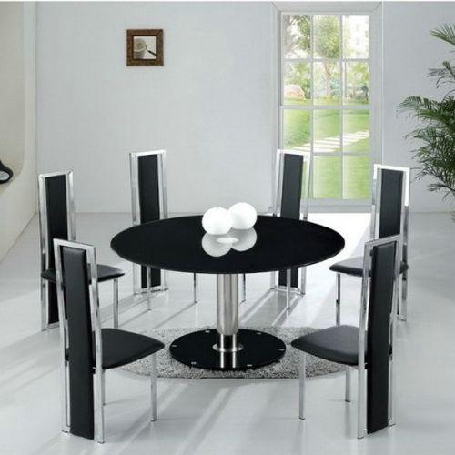 Best Modern Black Round Dining Table Gallery – 3D House Designs With Regard To Round 6 Person Dining Tables (View 19 of 20)
