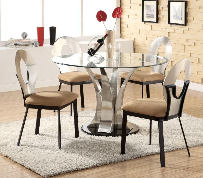 Best Round Contemporary Dining Table Pictures | All Contemporary For Circle Dining Tables (Image 10 of 20)