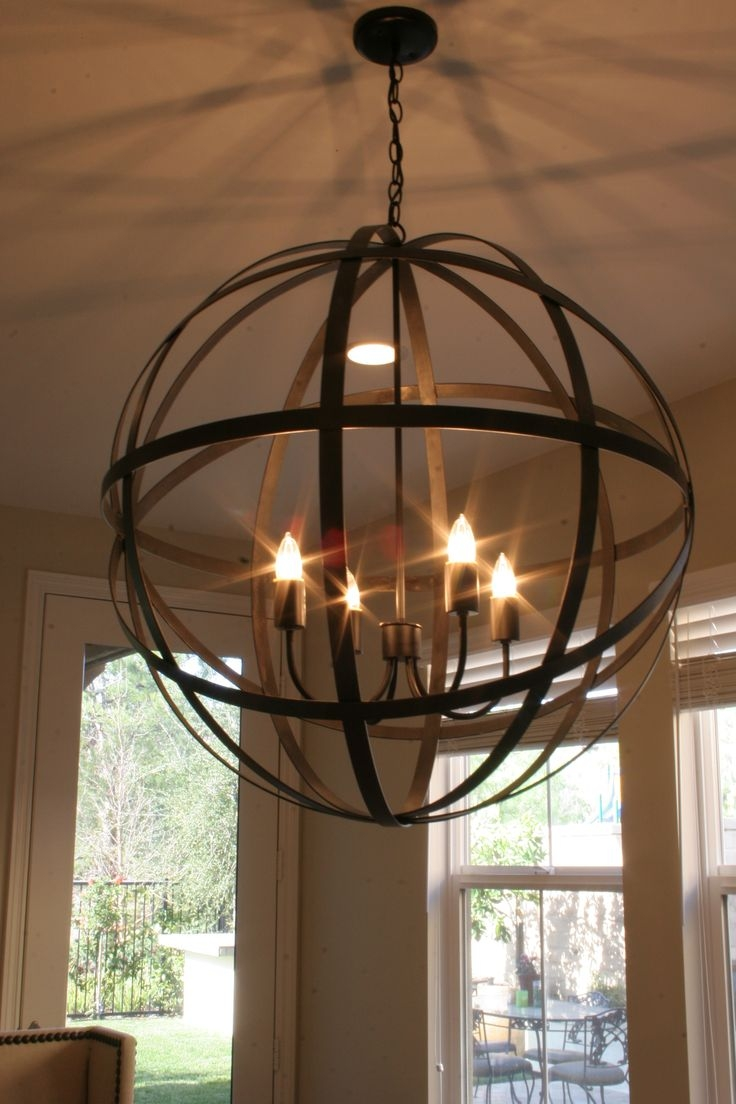 Best Wood Sphere Chandelier Orb Chandeliers Brilliant Chandeliers In Orb Chandeliers (Image 5 of 25)