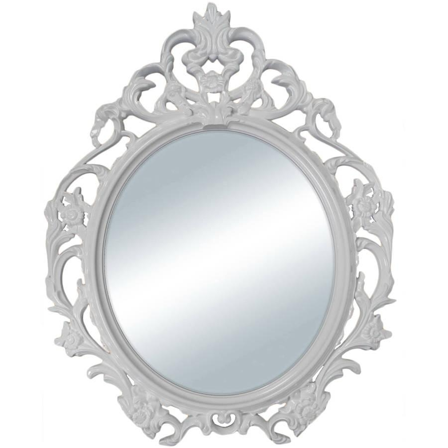 Better Homes And Gardens Baroque Oval Wall Mirror – Walmart In Silver Oval Wall Mirror (Image 4 of 20)
