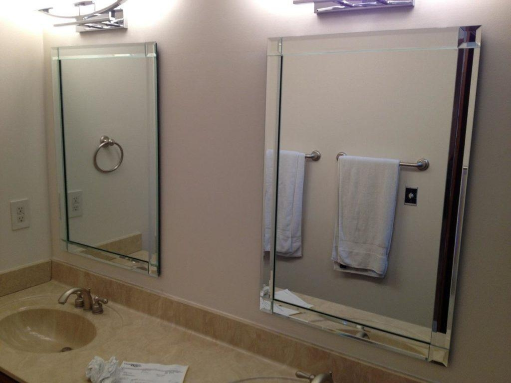 Bevelled Glass Mirrors Bathroom | Home Throughout Bevelled Glass Mirrors (Image 5 of 20)