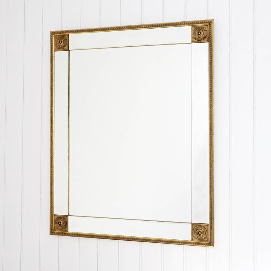 Bevelled Gold Full Length Mirrordecorative Mirrors Online With Regard To Bevelled Mirrors (Image 9 of 20)