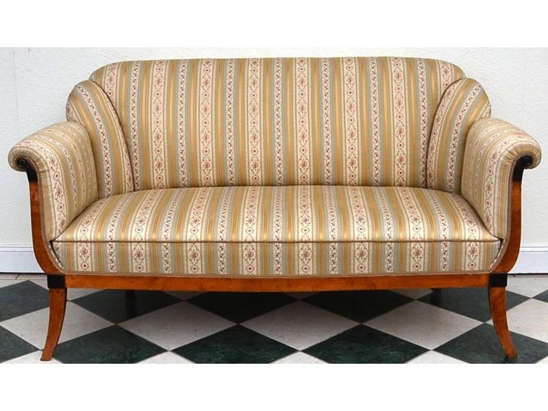 Biedermeier Sofa In Birke, Um 1910 – Antike Möbel Und Antiquitäten For Biedermeier Sofas (Image 16 of 20)