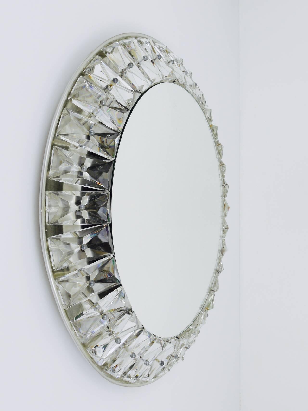 Big Round Bakalowits Backlit Wall Mirror With Huge Crystals For Mirror With Crystals (Image 6 of 20)