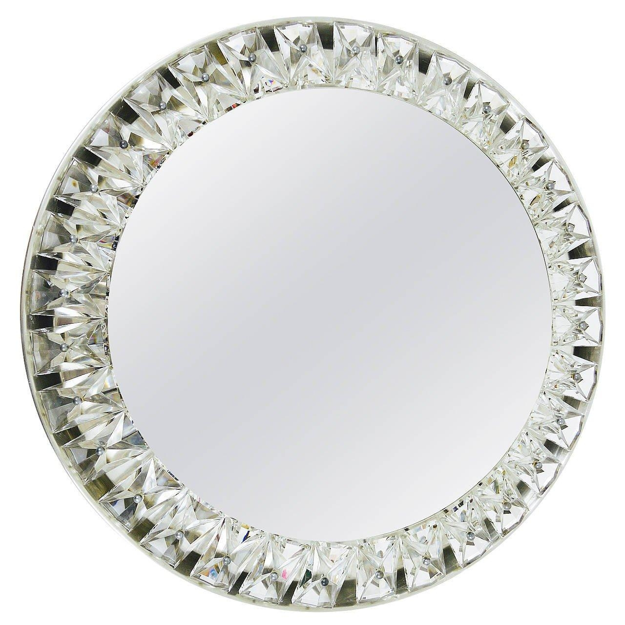 Big Round Bakalowits Backlit Wall Mirror With Huge Crystals For Mirror With Crystals (Image 5 of 20)