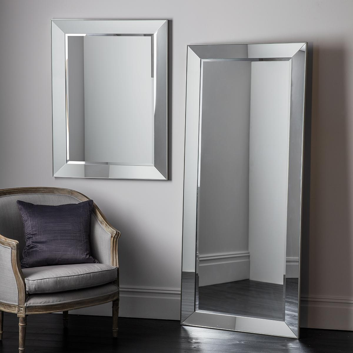 Big Silver Framed Mirror | Vanity Decoration Intended For Big Silver Mirror (Image 4 of 20)