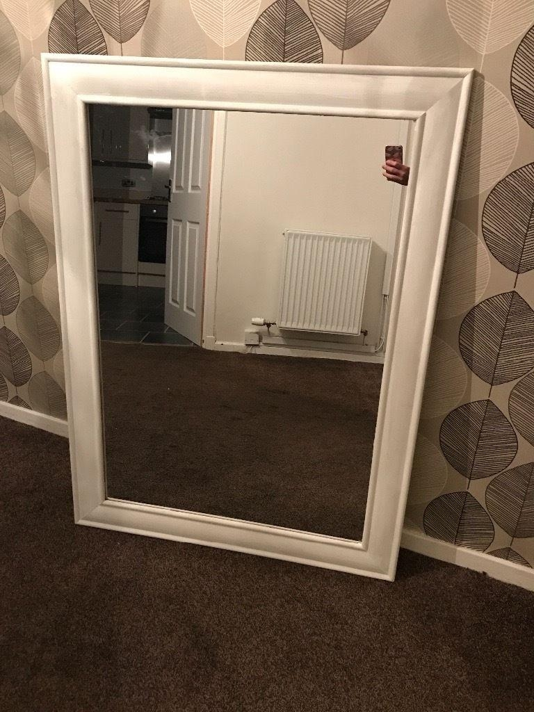 Big White Shabby Chic Mirror For Sale | In Falkirk | Gumtree In White Shabby Chic Mirror Sale (View 10 of 20)
