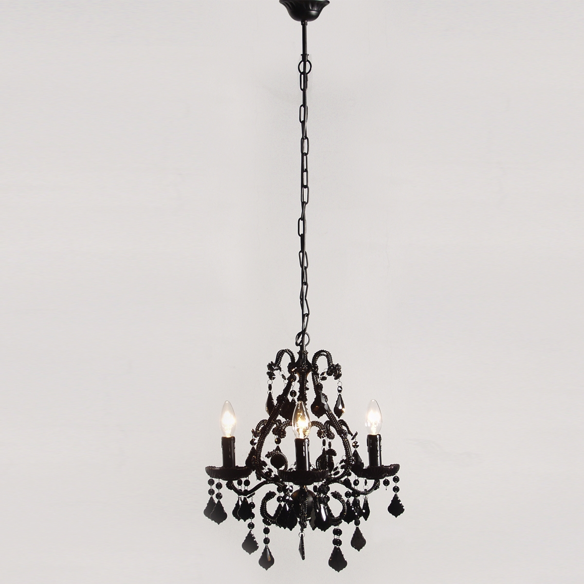 Black Chandeliers For Bedroom Lighting Style Howiezine With Grey Chandeliers (Image 5 of 25)