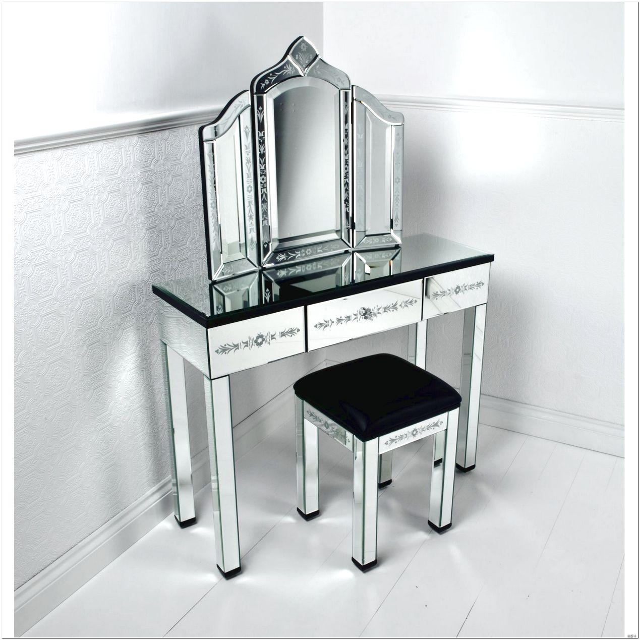 Black Dressing Table With Mirror And Stool Design Ideas – Interior Within Black Dressing Mirror (Image 11 of 20)