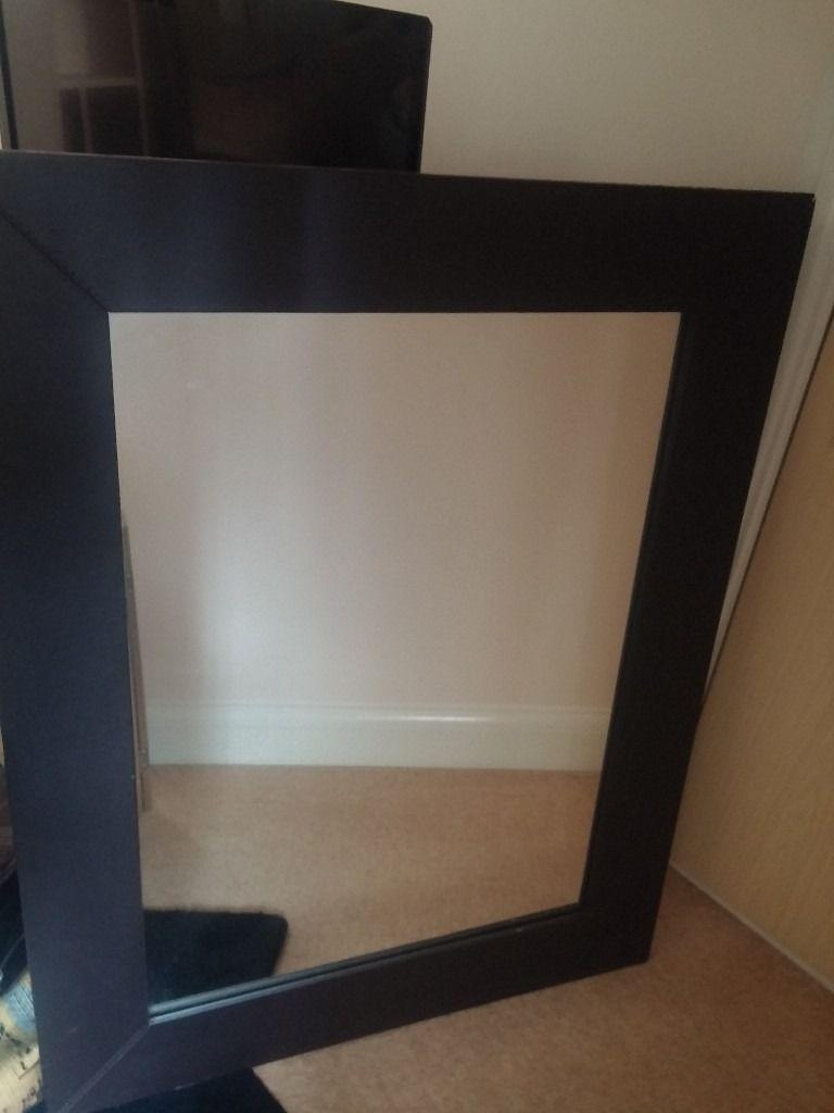 Black Faux Leather Mirror | In Exeter, Devon | Gumtree Throughout Black Faux Leather Mirror (View 8 of 20)