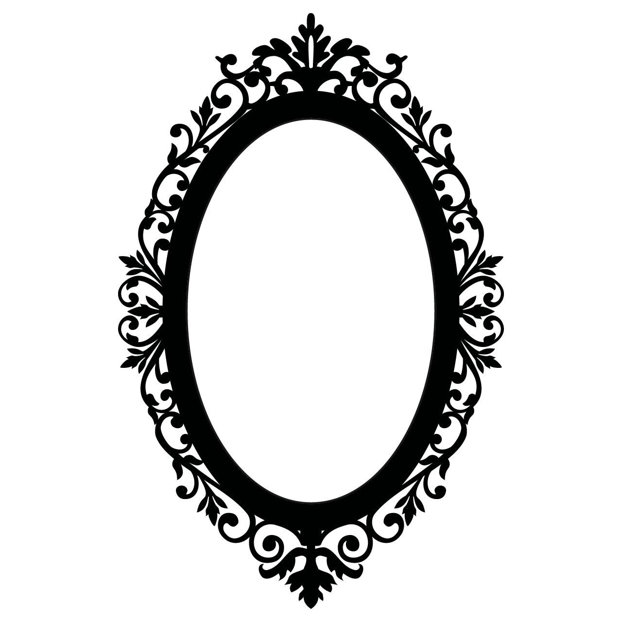 Black Framed Oval Mirror – Harpsounds (View 19 of 20)
