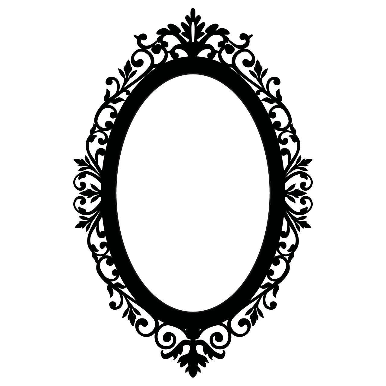 Black Framed Oval Mirror – Harpsounds (Image 11 of 20)