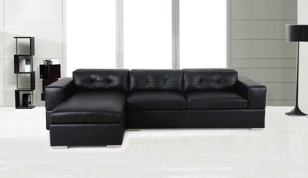 Black Leather Convertible Sofa Intended For Black Leather Convertible Sofas (Image 4 of 20)
