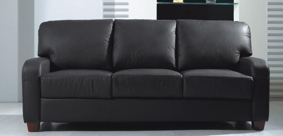 Black Leather Sleeper Sofa Queen – Ansugallery In Black Leather Convertible Sofas (Image 5 of 20)