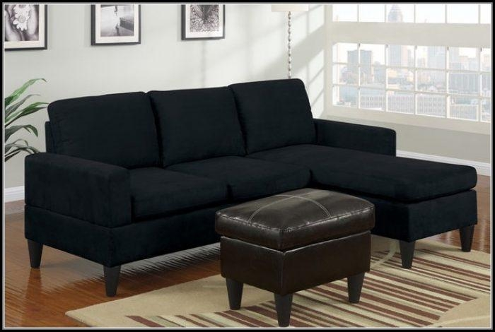 Black Microfiber Sectional Sofa – Sofa : Home Furniture Ideas Intended For Black Microfiber Sectional Sofas (Image 1 of 20)