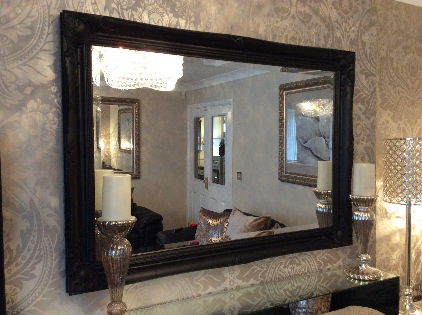Black Mirrors For Black Shabby Chic Mirror (Image 9 of 20)
