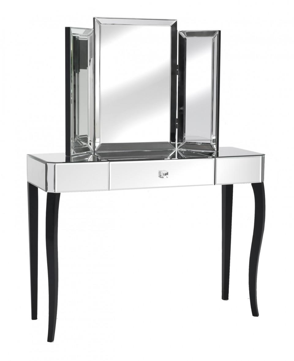 Black Orchid | Mirrored Dressing Tables | Luxury Dressing Tables Inside Black Dressing Mirror (Image 12 of 20)