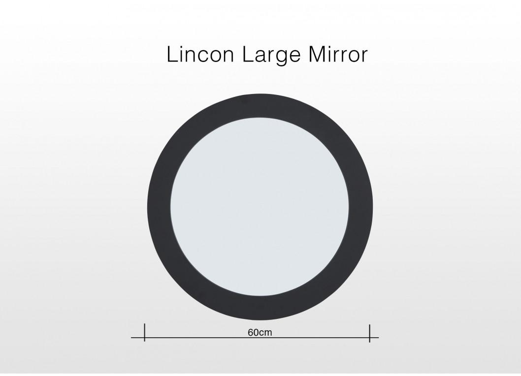 Black Round Large Wall Mirror – Lincoln Within Large Round Black Mirror (Image 3 of 20)